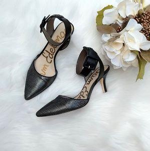 Sam Edelman Okala black sparkl hiing heels